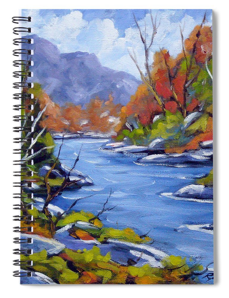 Art Spiral Notebook featuring the painting Inland Water by Richard T Pranke