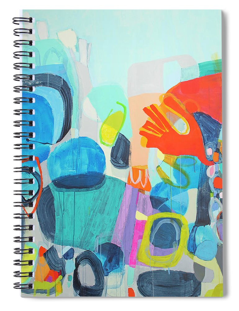 Abstract Spiral Notebook featuring the painting Insatiable by Claire Desjardins