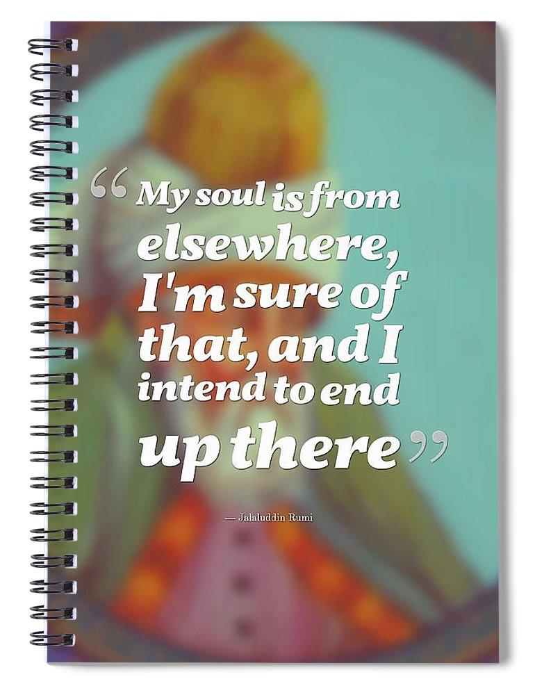 Inspirational Quotes Motivational Jalaluddin Rumi 2 Spiral Notebook