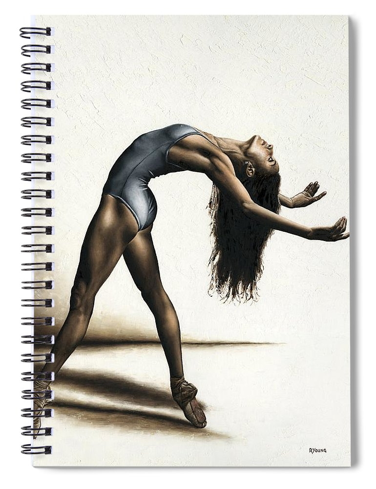 Dance Spiral Notebook featuring the painting Invitation To Dance by Richard Young
