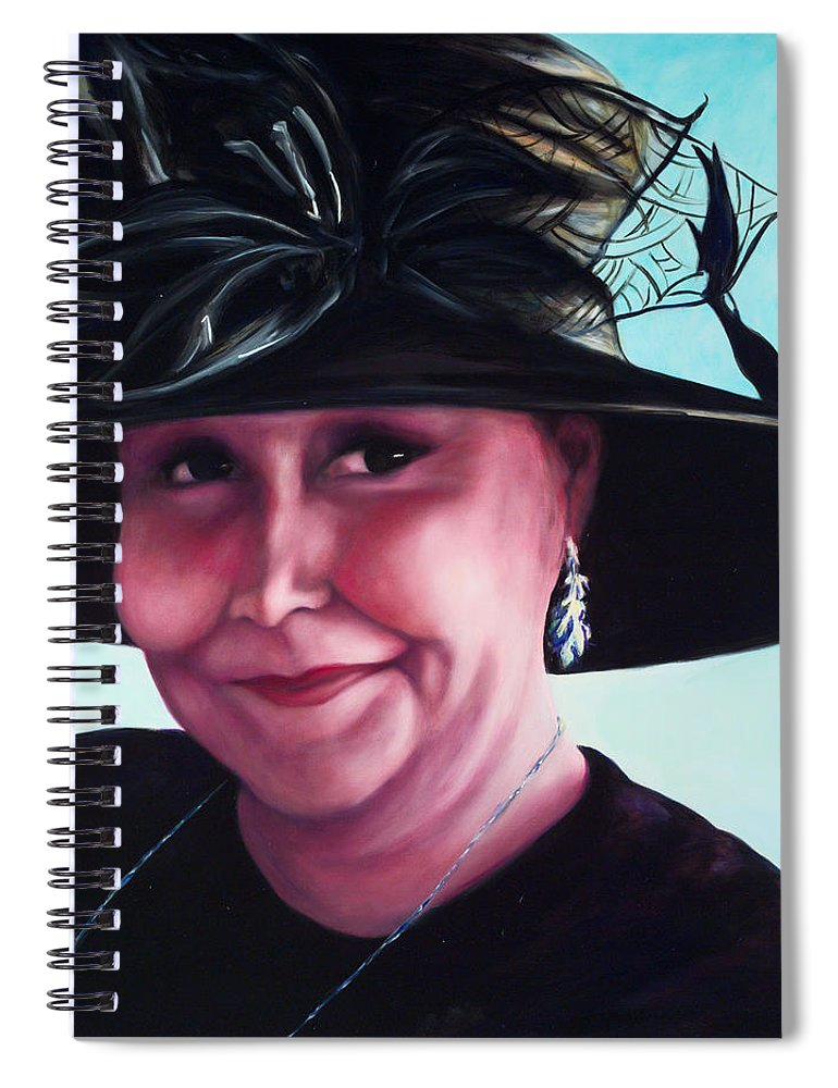 Woman Spiral Notebook featuring the painting Irene by Shannon Grissom