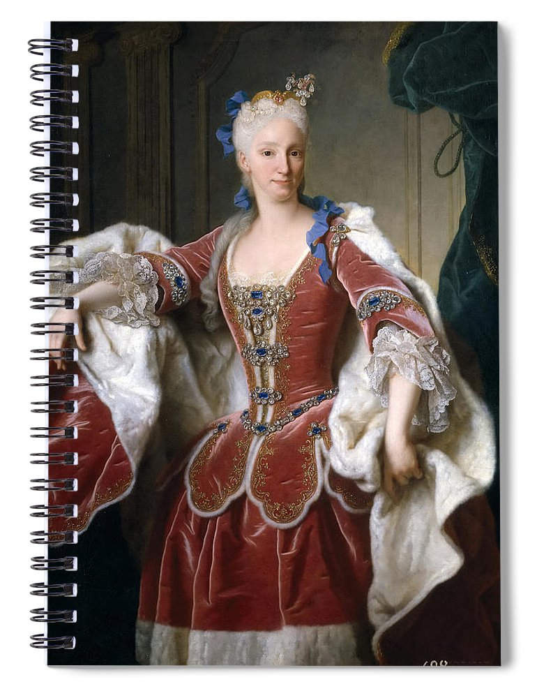 Jean Ranc Spiral Notebook featuring the painting Isabella Farnese. Queen Of Spain by Jean Ranc  sc 1 st  Fine Art America & Isabella Farnese. Queen Of Spain Spiral Notebook for Sale by Jean Ranc