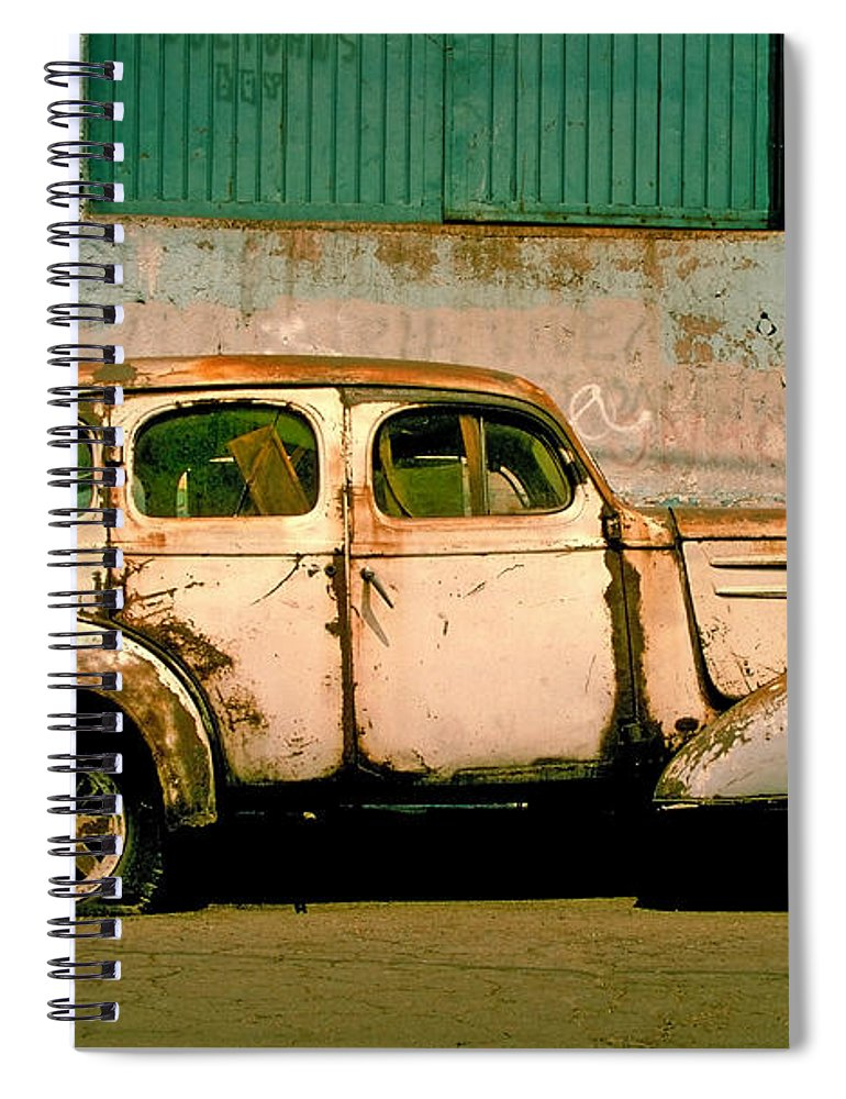 Skip Spiral Notebook featuring the photograph Jalopy by Skip Hunt