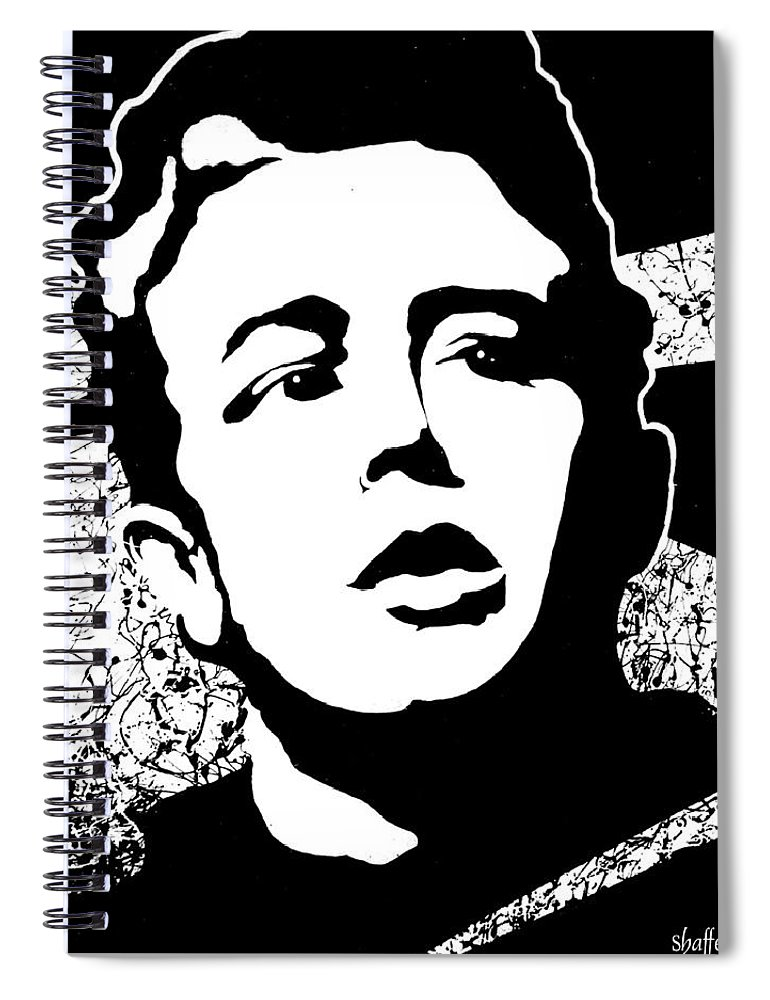 James Dean Spiral Notebook featuring the painting James Dean by Curtiss Shaffer