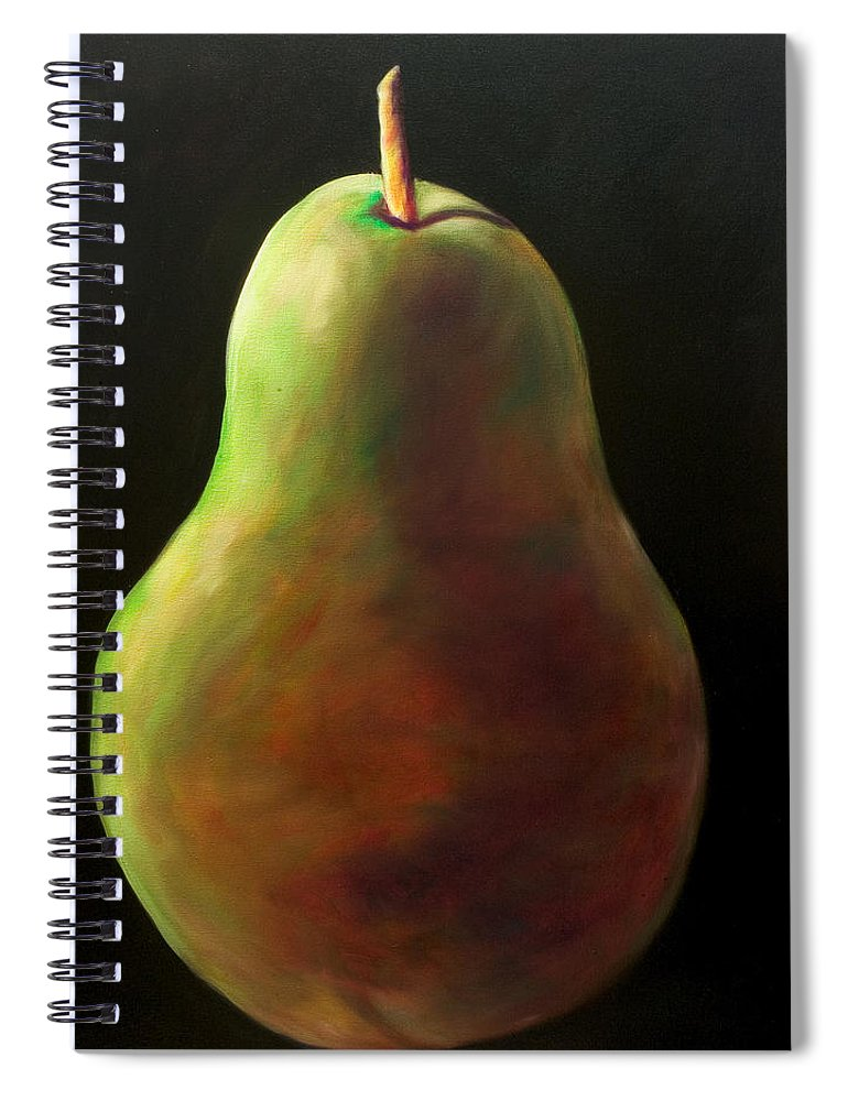 Pear Spiral Notebook featuring the painting Jan by Shannon Grissom