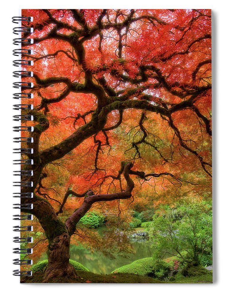Horizontal Spiral Notebook featuring the photograph Japenese Garden, Portland by Jesse Estes