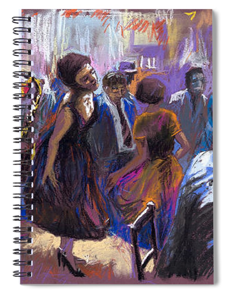 Jazz.pastel Spiral Notebook featuring the painting Jazz by Yuriy Shevchuk
