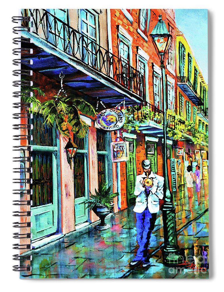 New Orleans Art Spiral Notebook featuring the painting Jazz'n by Dianne Parks