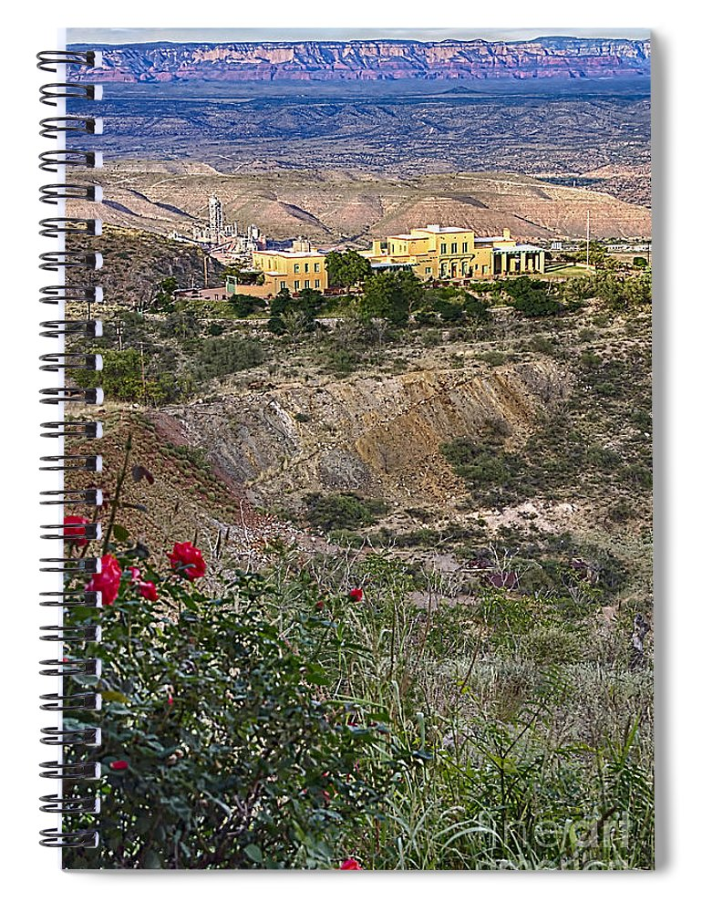 Jerome's Douglas Mansion Spiral Notebook featuring the photograph Jerome's Douglas Mansion by Priscilla Burgers