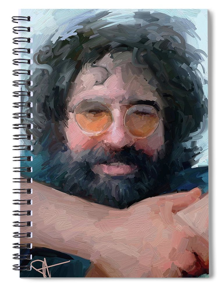 Jerry Spiral Notebook featuring the digital art Jerry by Scott Waters