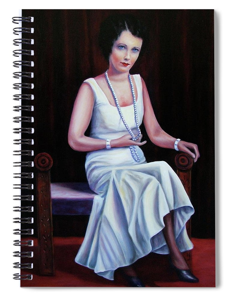 Portrait Spiral Notebook featuring the painting Jessie Mckay Lane by Shannon Grissom