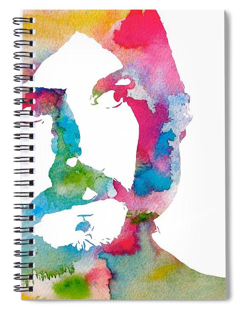 John Bonham Watercolor Spiral Notebook featuring the digital art John Bonham Watercolor by Dan Sproul