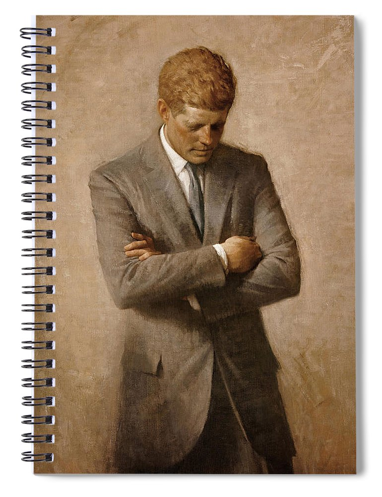 Jfk Spiral Notebook featuring the painting John F Kennedy by War Is Hell Store
