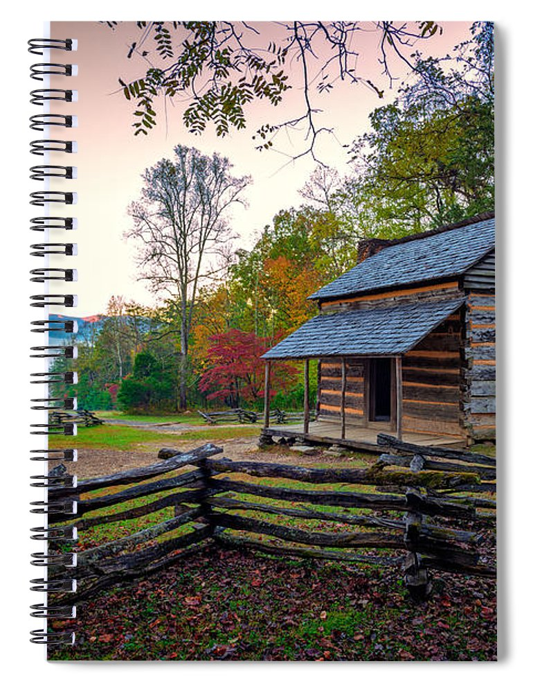 John Oliver Place Spiral Notebook featuring the photograph John Oliver Place In Cades Cove by Rick Berk