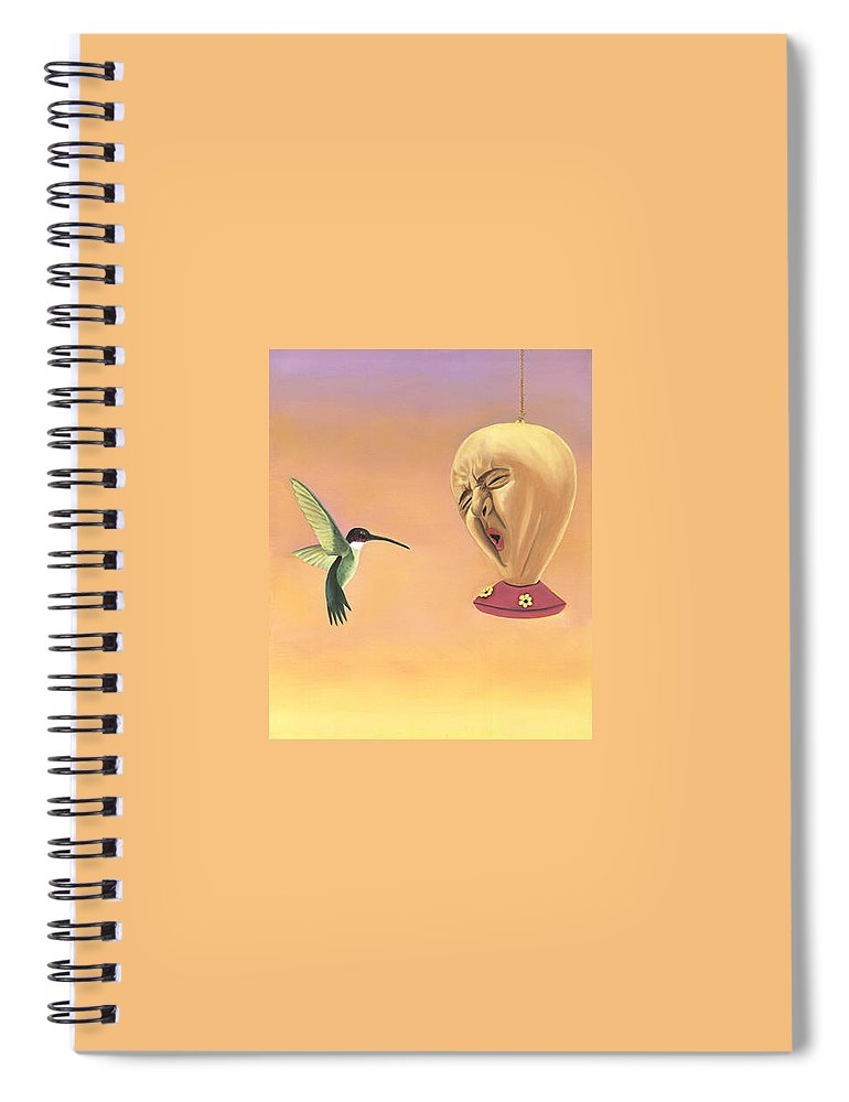 Faces In Unusual Places Spiral Notebook featuring the painting Joshua by Sandi Snead