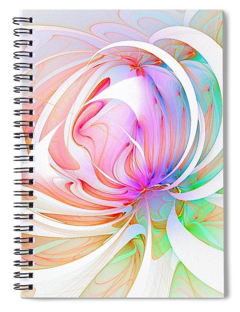 Digital Art Spiral Notebook featuring the digital art Joy by Amanda Moore