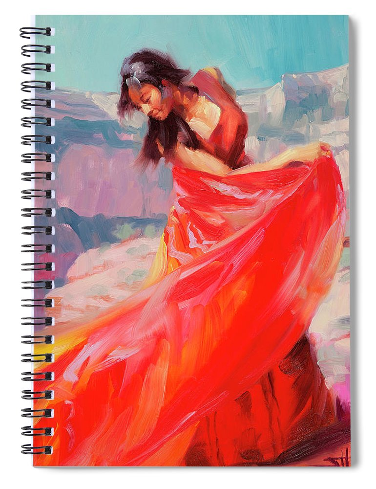 Southwest Spiral Notebook featuring the painting Jubilee by Steve Henderson