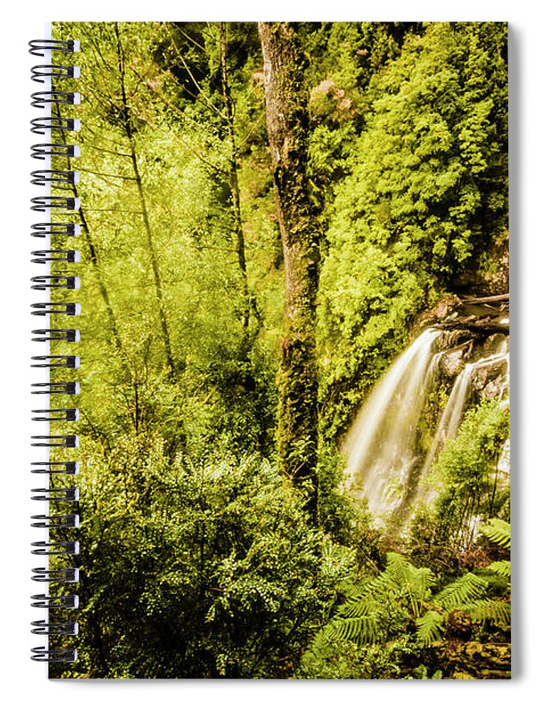 Jungle Spiral Notebook featuring the photograph Jungle Steams by Jorgo Photography - Wall Art Gallery