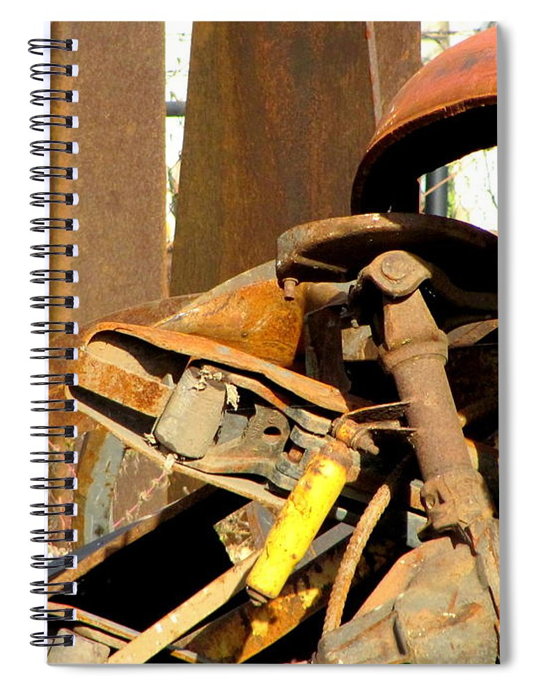 Photo Spiral Notebook featuring the photograph Junk 15 by Anita Burgermeister