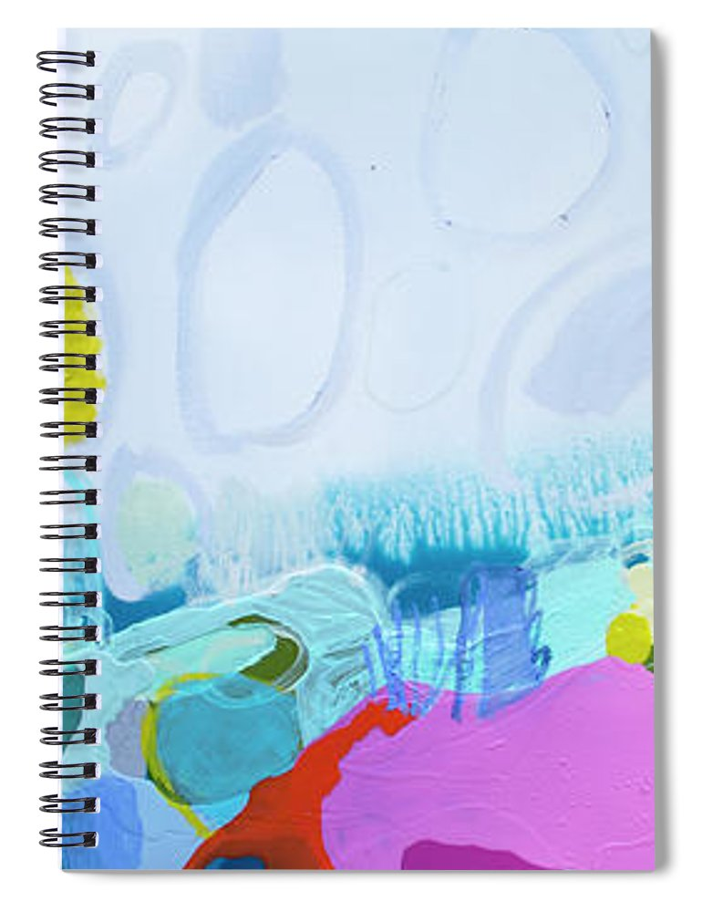 Abstract Spiral Notebook featuring the painting Just Sing by Claire Desjardins