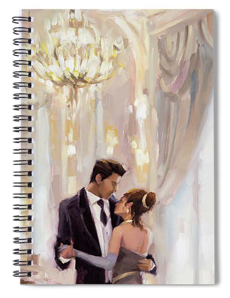 Romance Spiral Notebook featuring the painting Just The Two Of Us by Steve Henderson