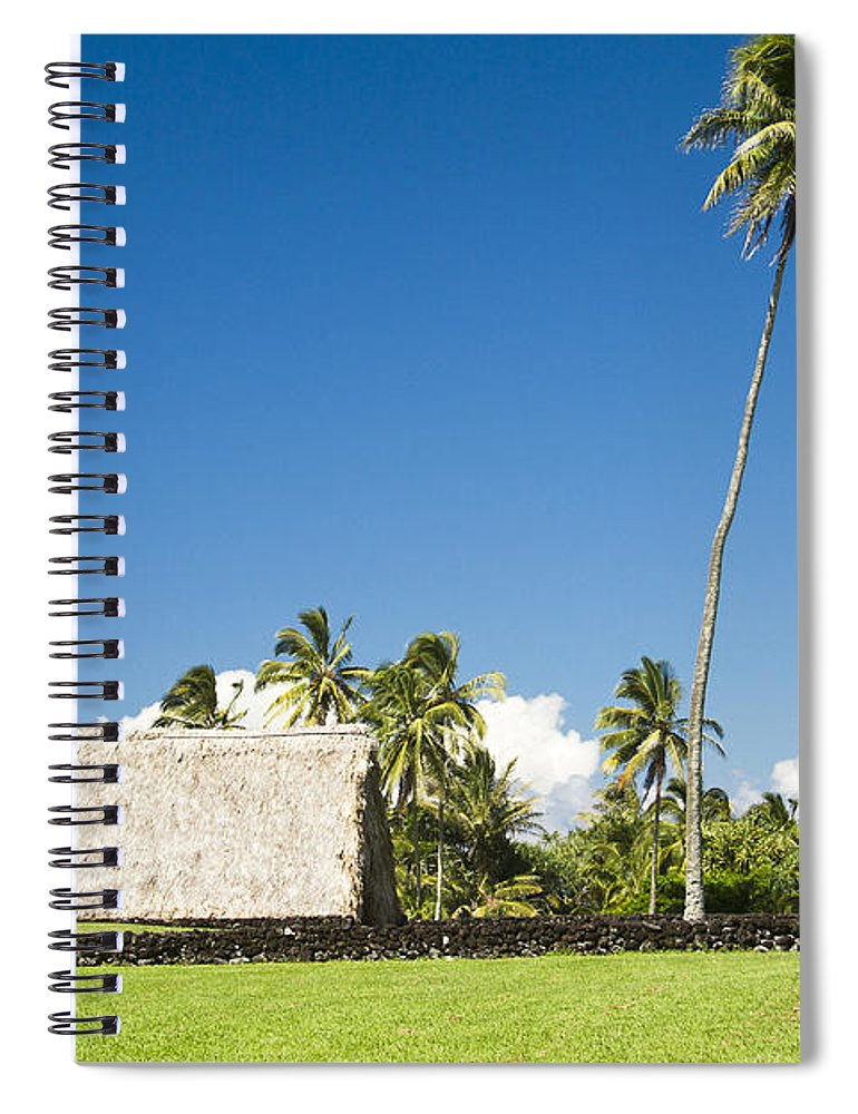 Kahanu Garden Spiral Notebook featuring the photograph Kahanu Garden Hana Maui Hawaii by Sharon Mau
