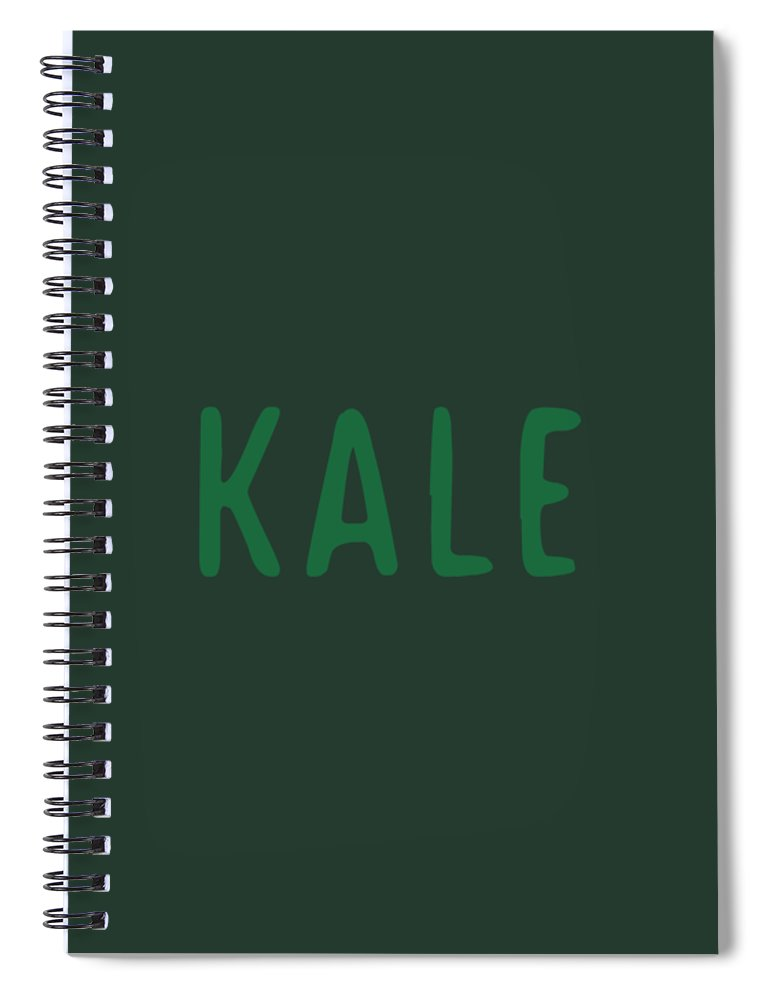 Text Spiral Notebook featuring the digital art Kale by Cortney Herron