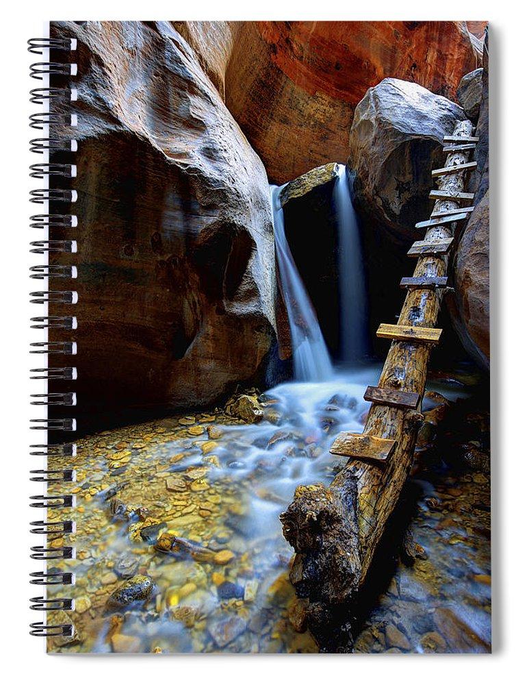 Kanarra Spiral Notebook featuring the photograph Kanarra by Chad Dutson