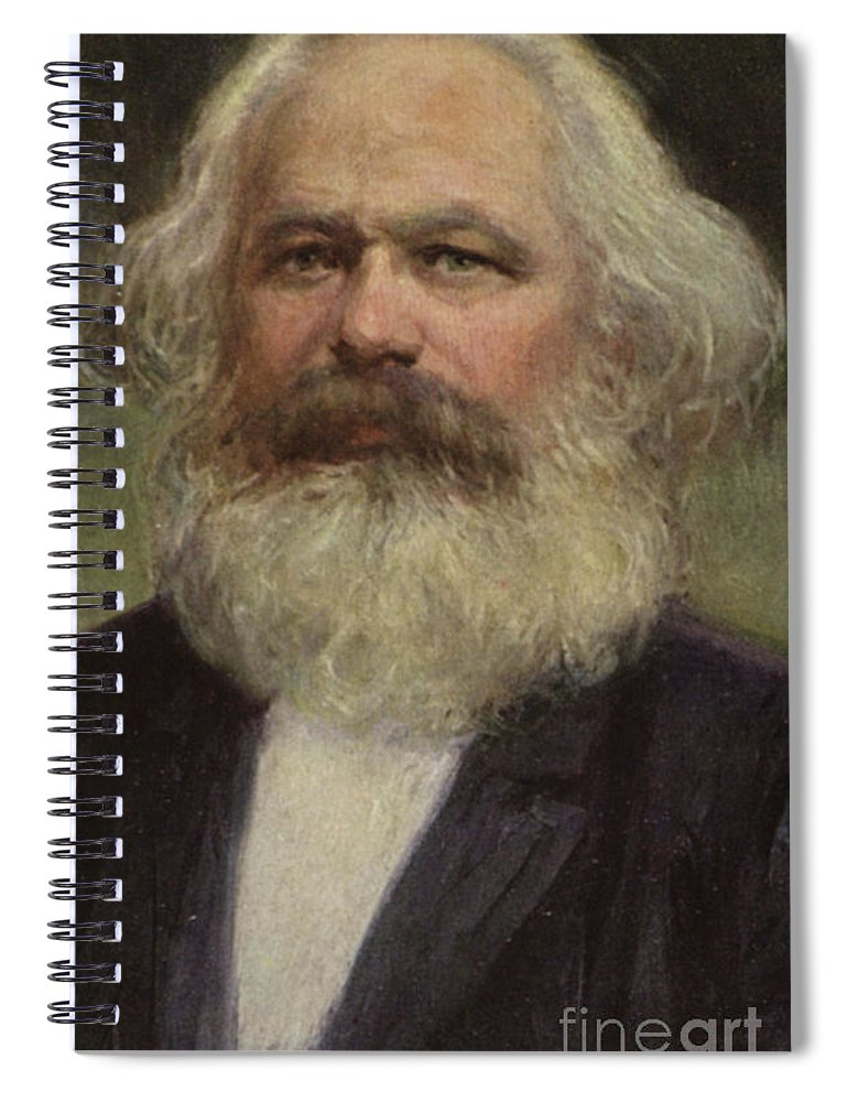 Marx Spiral Notebook featuring the painting Karl Marx by European School
