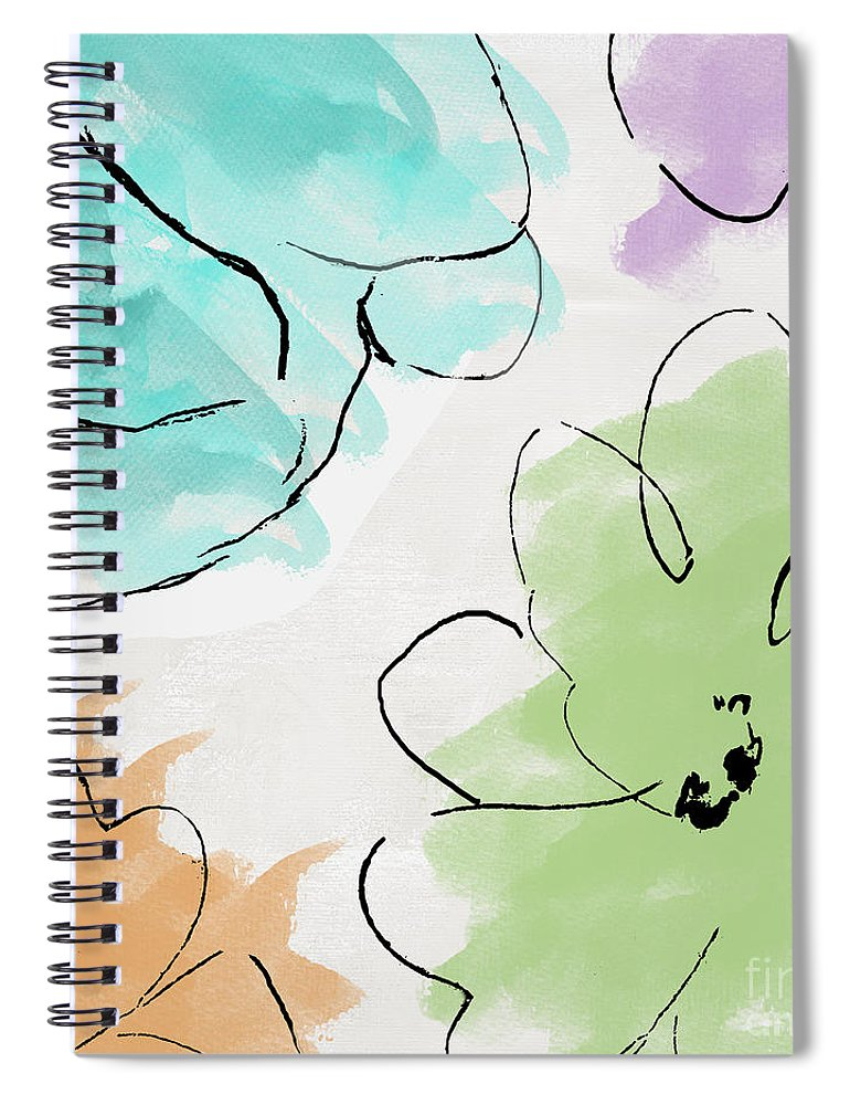 Abstract Spiral Notebook featuring the painting Kasumi by Mindy Sommers