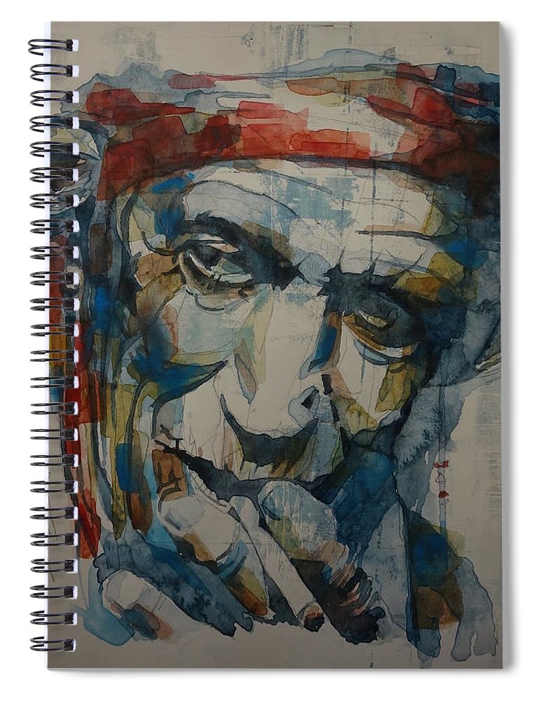 Rolling Stones Spiral Notebook featuring the painting Keith Richards Art by Paul Lovering