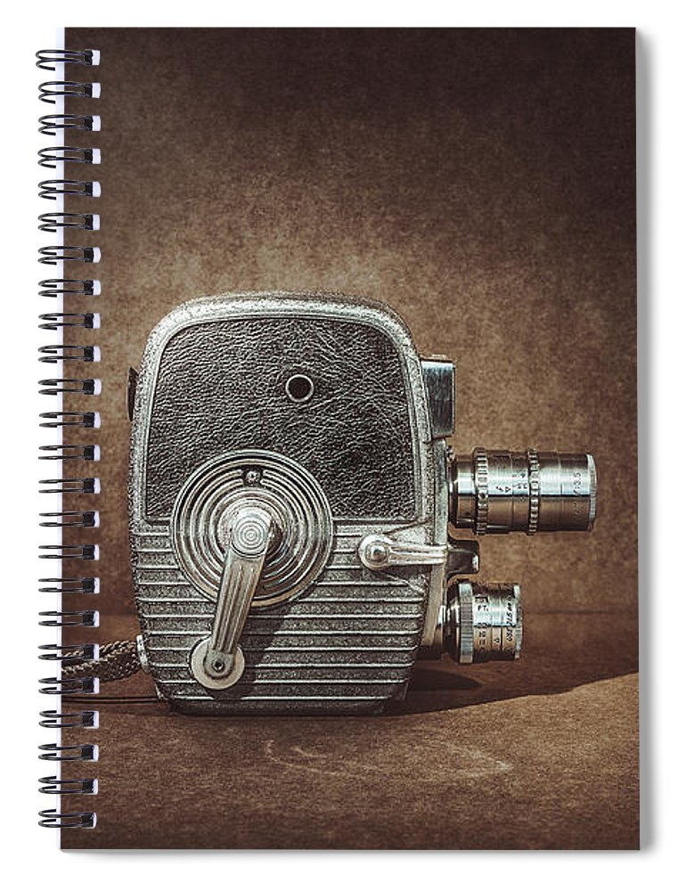 Vintage Spiral Notebook featuring the photograph Keystone Capri K28 by Scott Norris
