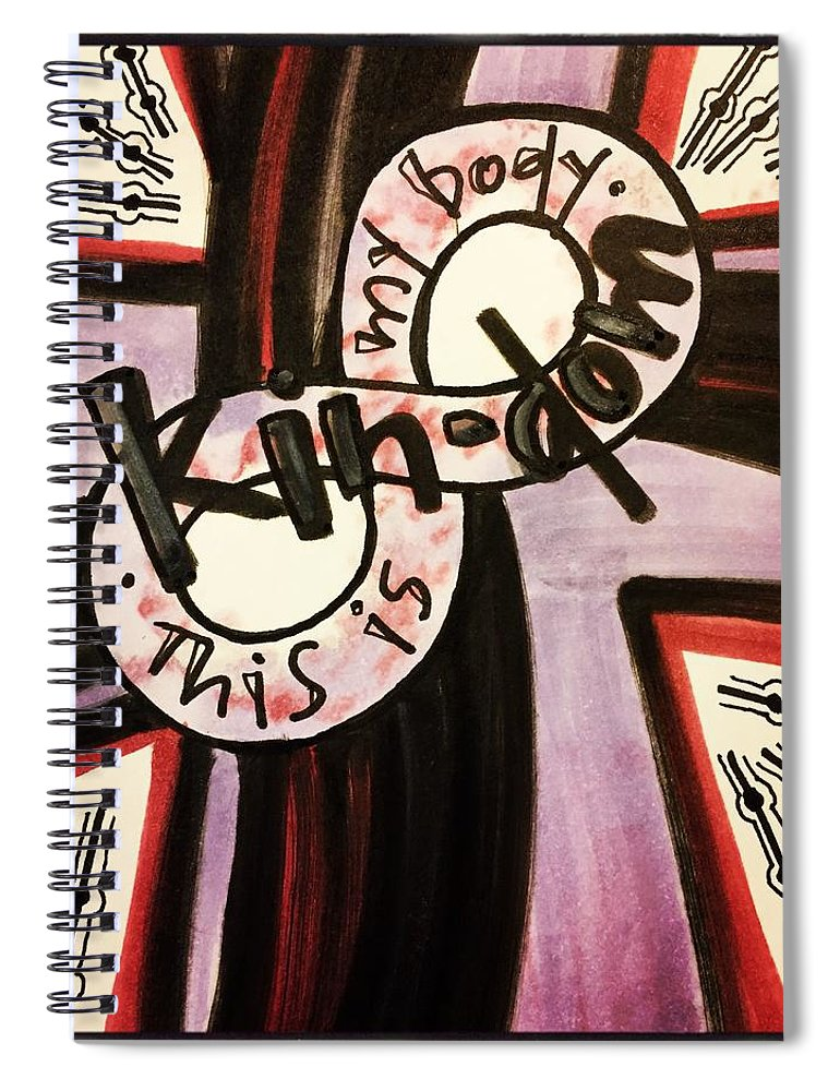 Kindom Spiral Notebook featuring the painting Kin-dom by Vonda Drees