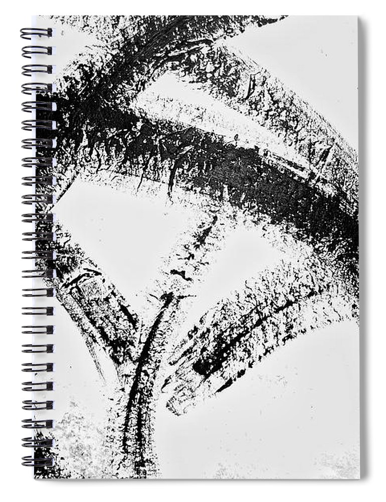 Red Spiral Notebook featuring the painting Kinetic Energy by Joan Reese