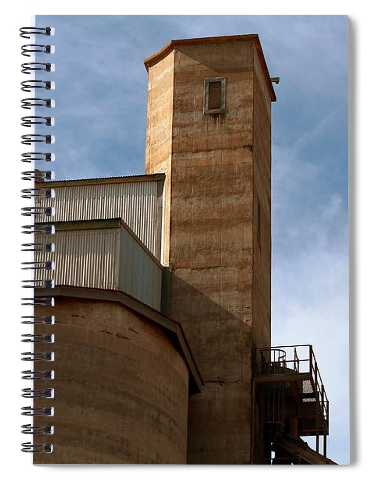 Silo Spiral Notebook featuring the photograph Kingscote Castle by Stephen Mitchell