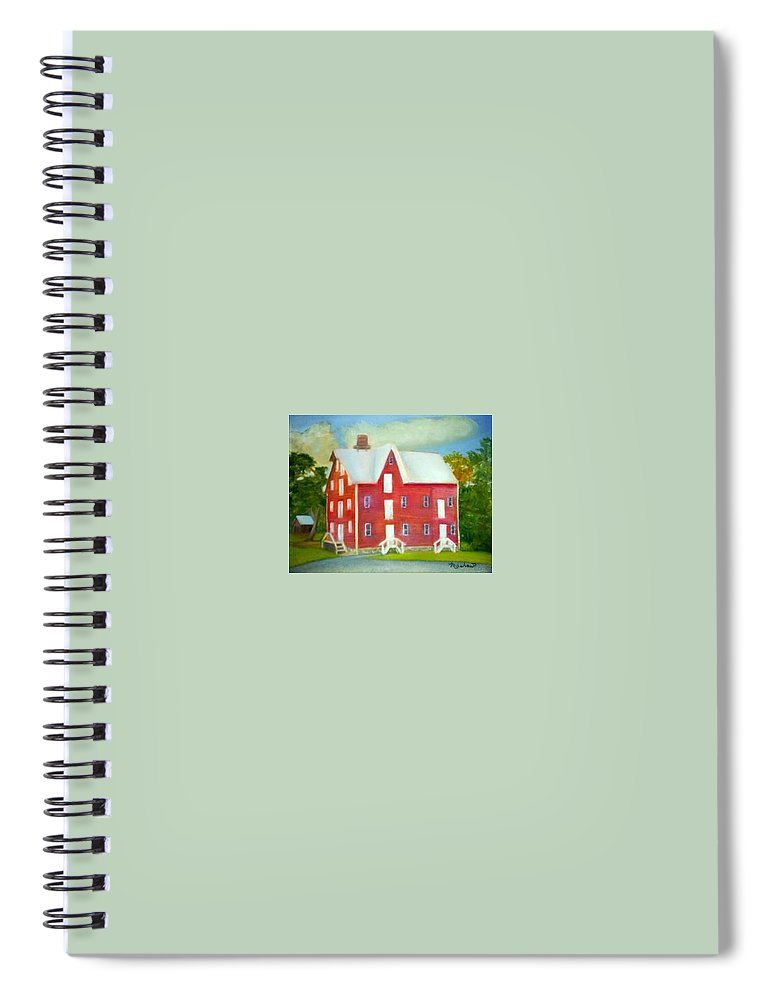 Kirby Mill Spiral Notebook featuring the painting Kirby's Mil by Sheila Mashaw