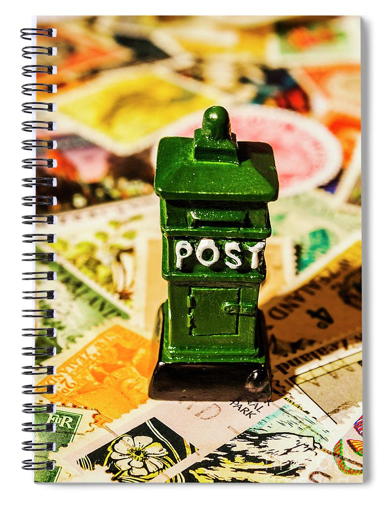 Postbox Spiral Notebook featuring the photograph Kiwi Postage Scene by Jorgo Photography - Wall Art Gallery