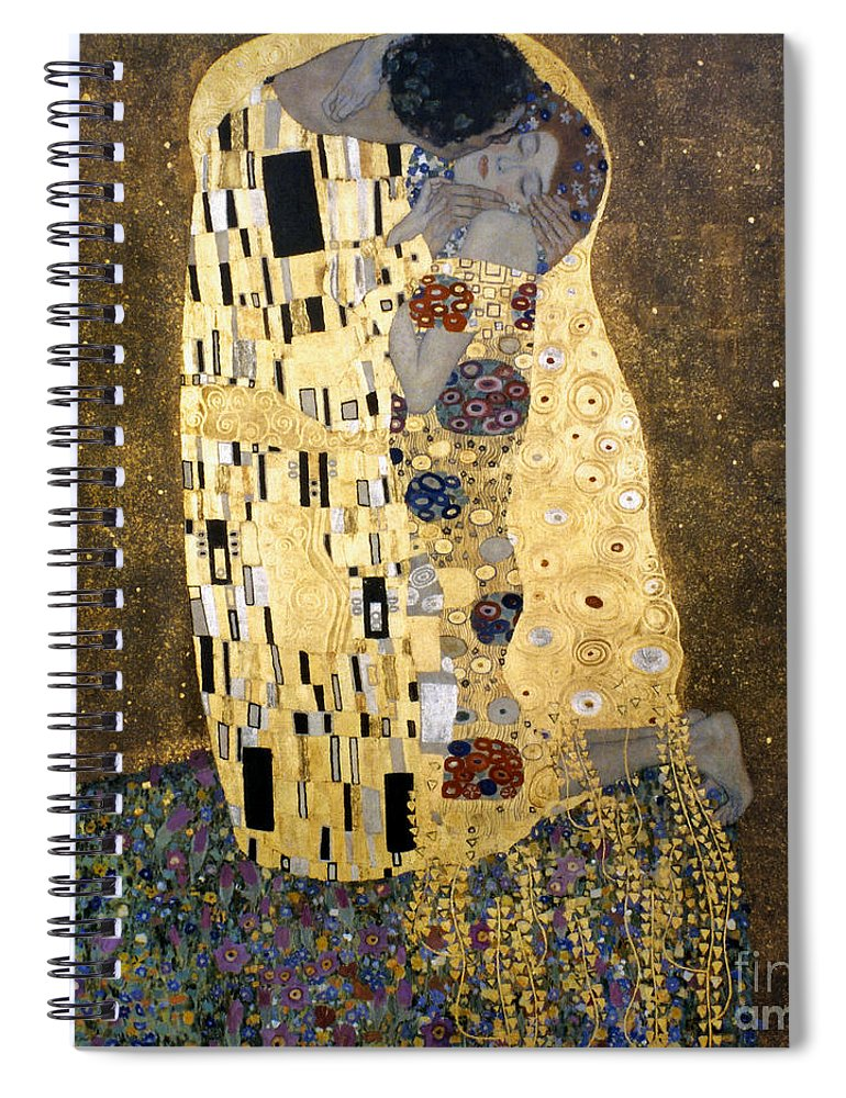 1907 Spiral Notebook featuring the photograph Klimt: The Kiss, 1907-08 by Granger