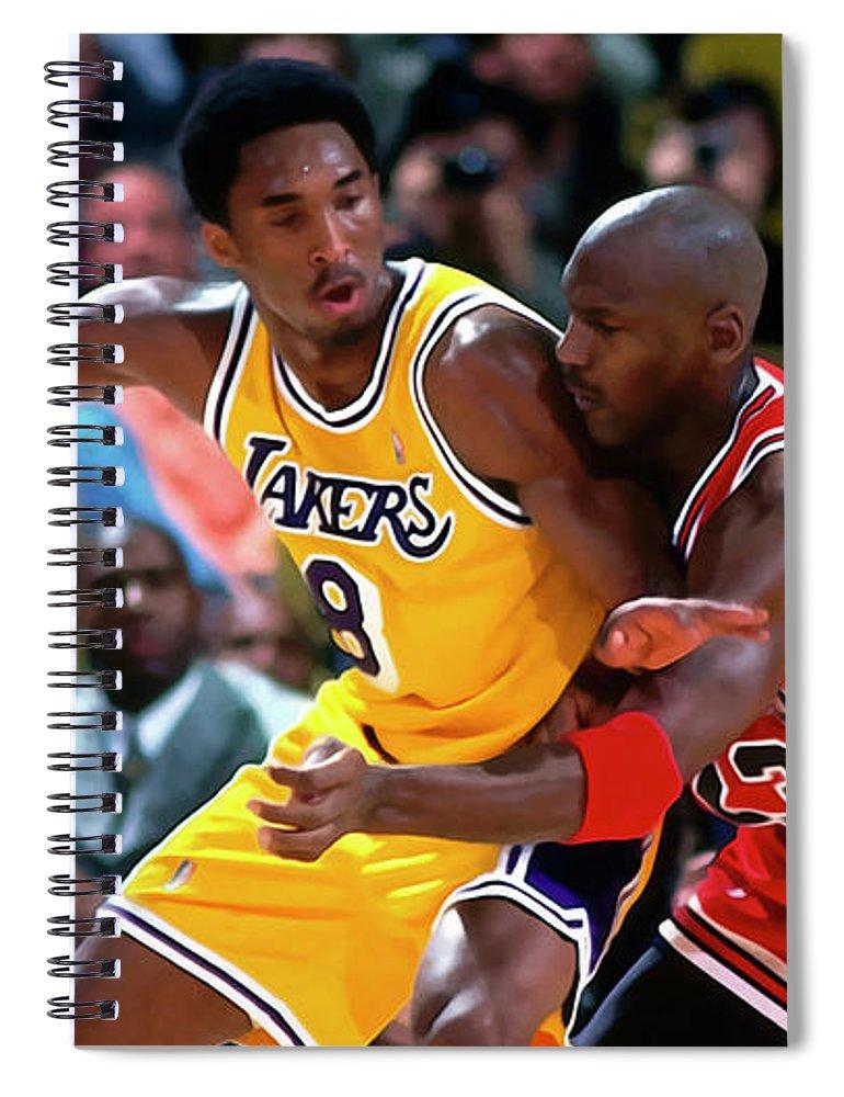 promo code 16bc9 acb6a Kobe Bryant Vs Michael Jordan Spiral Notebook for Sale by Sebastian Plat