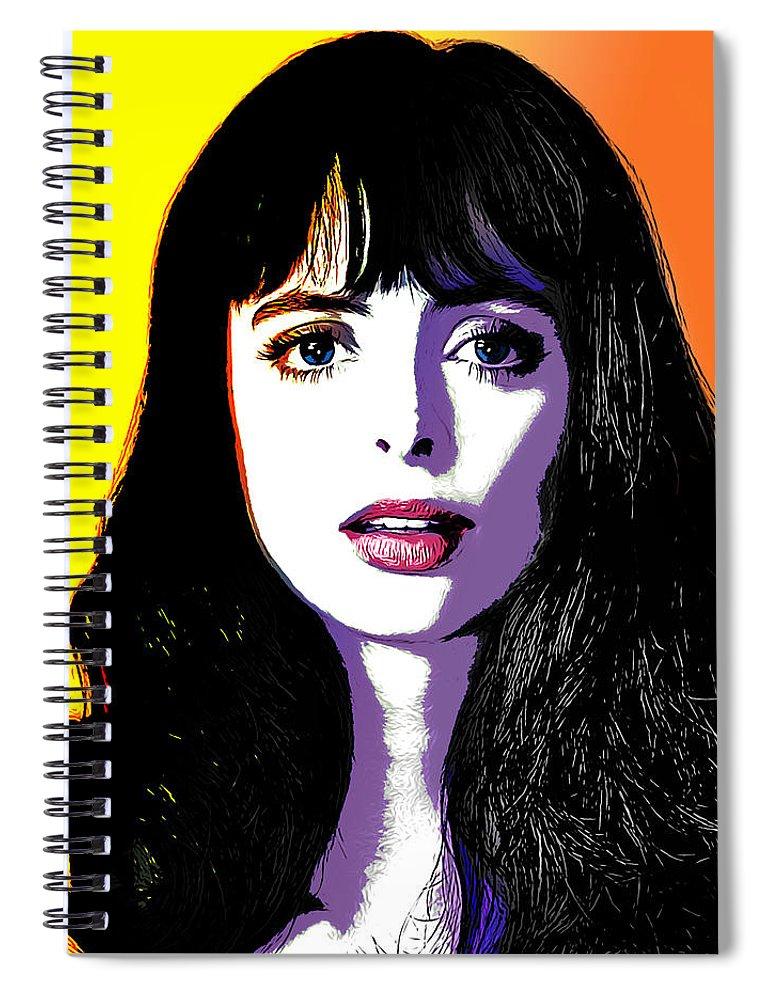 Digital Pop Art Spiral Notebook featuring the digital art Krysten Pop Art by Greg Joens