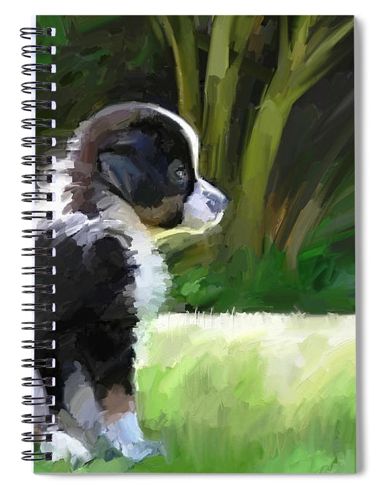 Aussie Dog Collie Spiral Notebook featuring the digital art Ku'uipo by Scott Waters