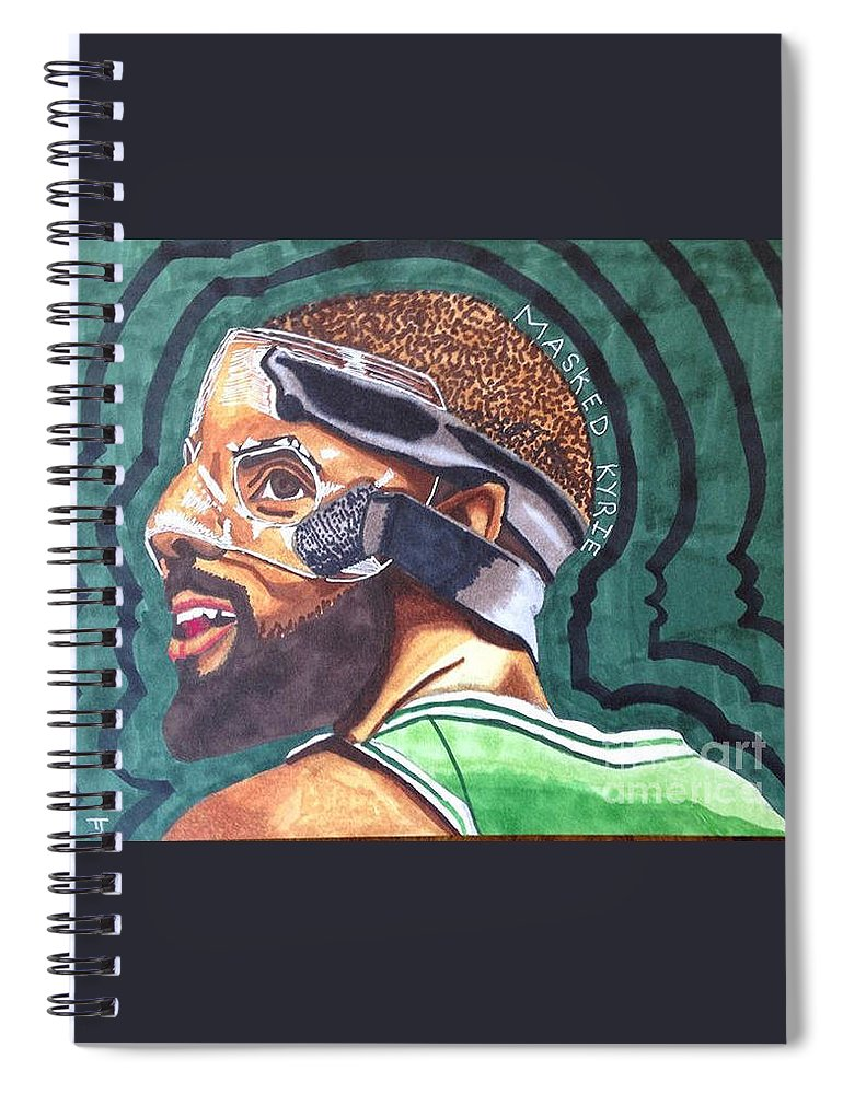 info for 8ec39 c52d3 Kyrie Irving Drawing Spiral Notebook for Sale by Tucker James
