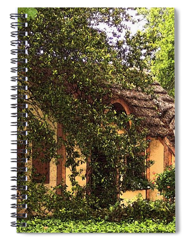 Cottage Spiral Notebook featuring the photograph La Maison by Debbi Granruth