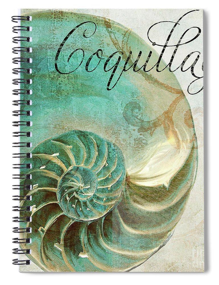 Beach House Spiral Notebook featuring the painting La Mer I by Mindy Sommers
