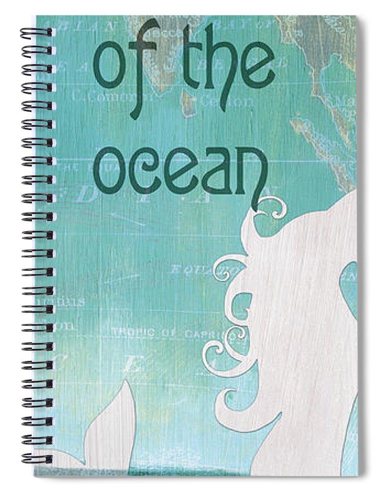 Mermaid Spiral Notebook featuring the painting La Mer Mermaid 1 by Debbie DeWitt