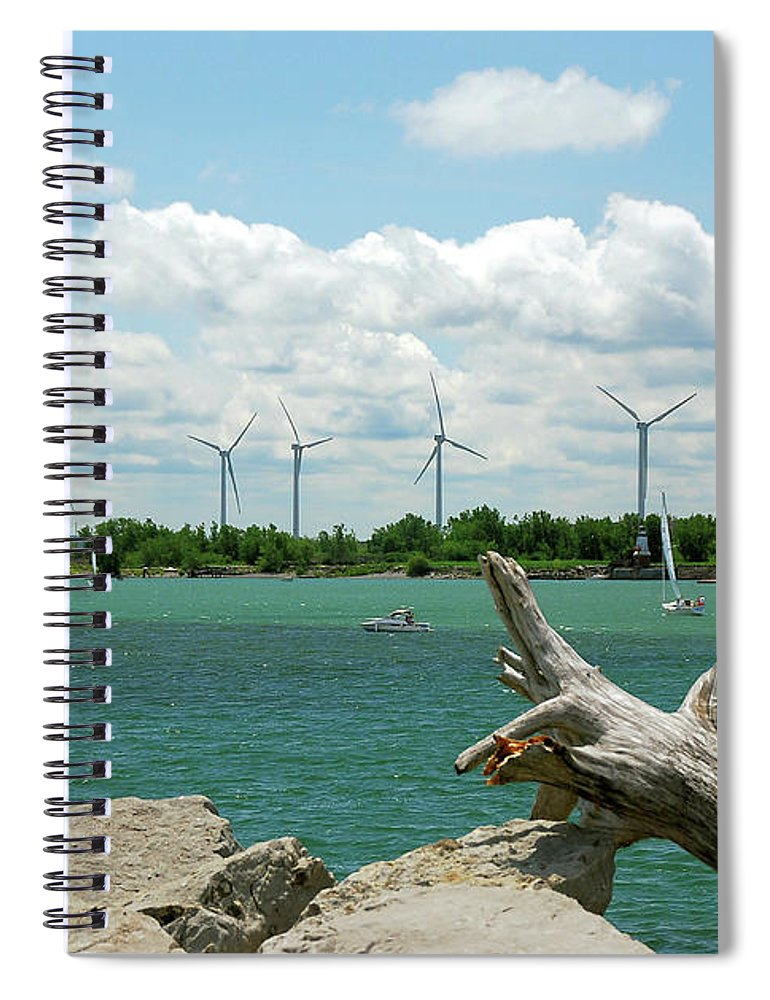 Wind Turbines Spiral Notebook featuring the photograph Lackawanna Wind Farm 5079 by Guy Whiteley