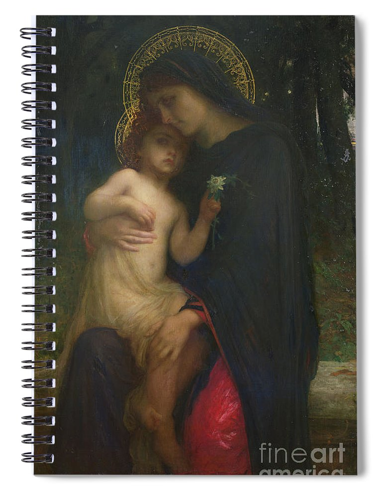 L'addolorata Spiral Notebook featuring the painting Laddolorata by Antoine Auguste Ernest Herbert or Hebert
