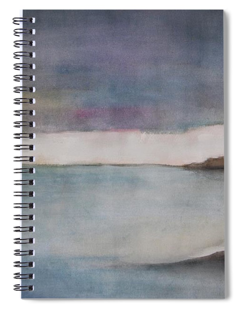 Ocean Spiral Notebook featuring the painting Lagoon Bleu by Vesna Antic