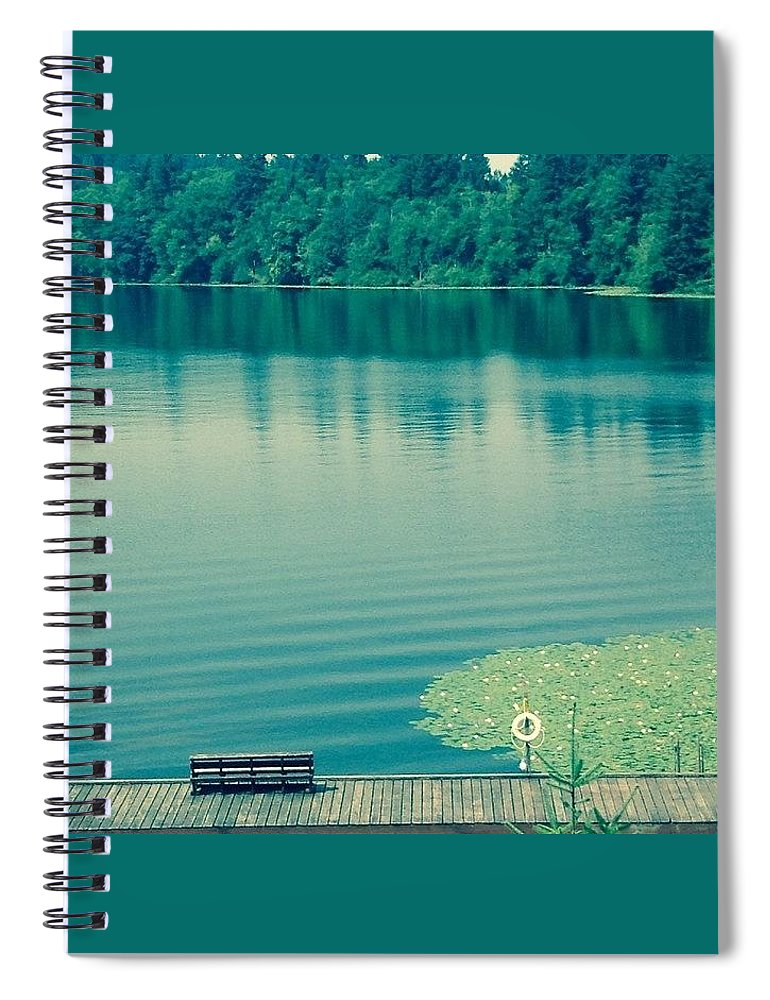 Lake Spiral Notebook featuring the photograph Lake by Andrew Redford