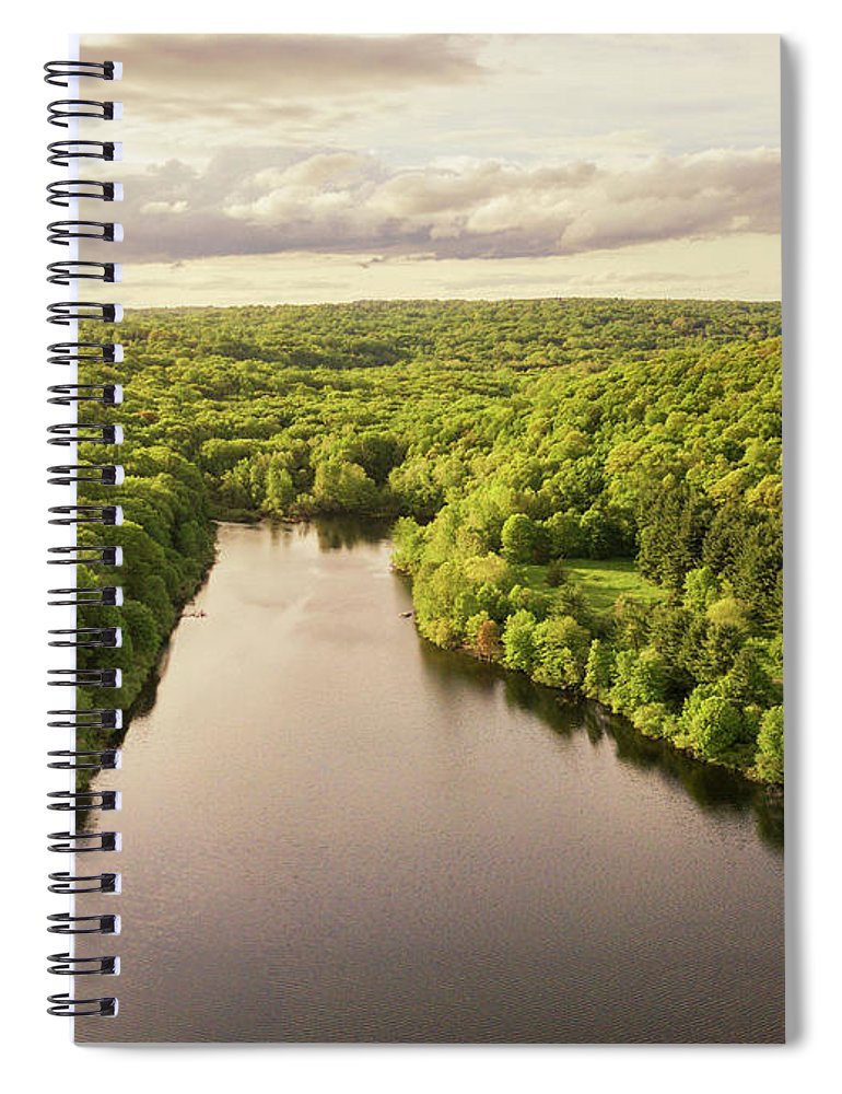 Lake Mohegan Spiral Notebook featuring the photograph Lake Mohegan, Fairfield, Connecticut by Stephanie McDowell